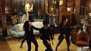 The clone club having a dance party.